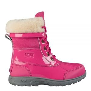 Ugg butte patent weatherproof boots pink NWT